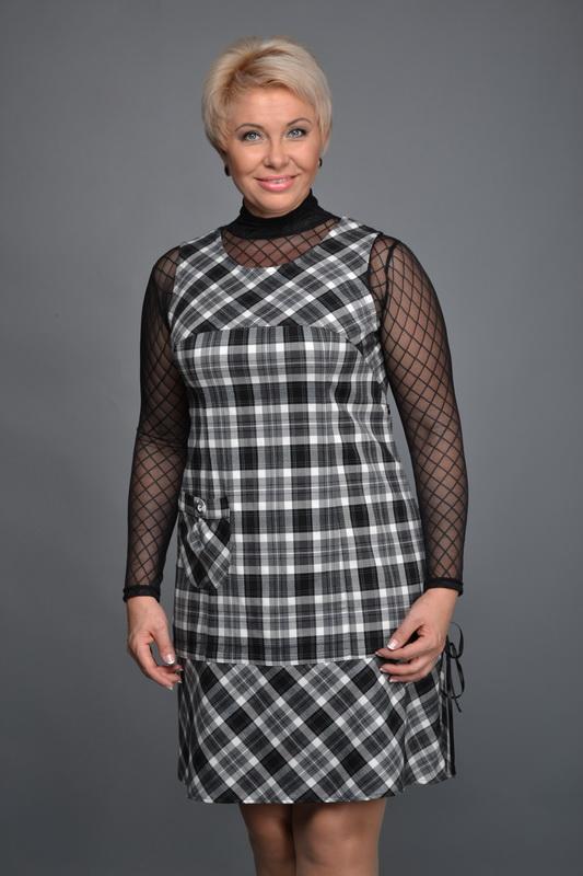 Описание: Модный сарафан с клешенной юбкой и лифом в клетку 2013 фото... . Добавил(а): Богдана
